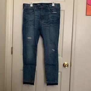 Medium Wash High Rise Skinny Jeans